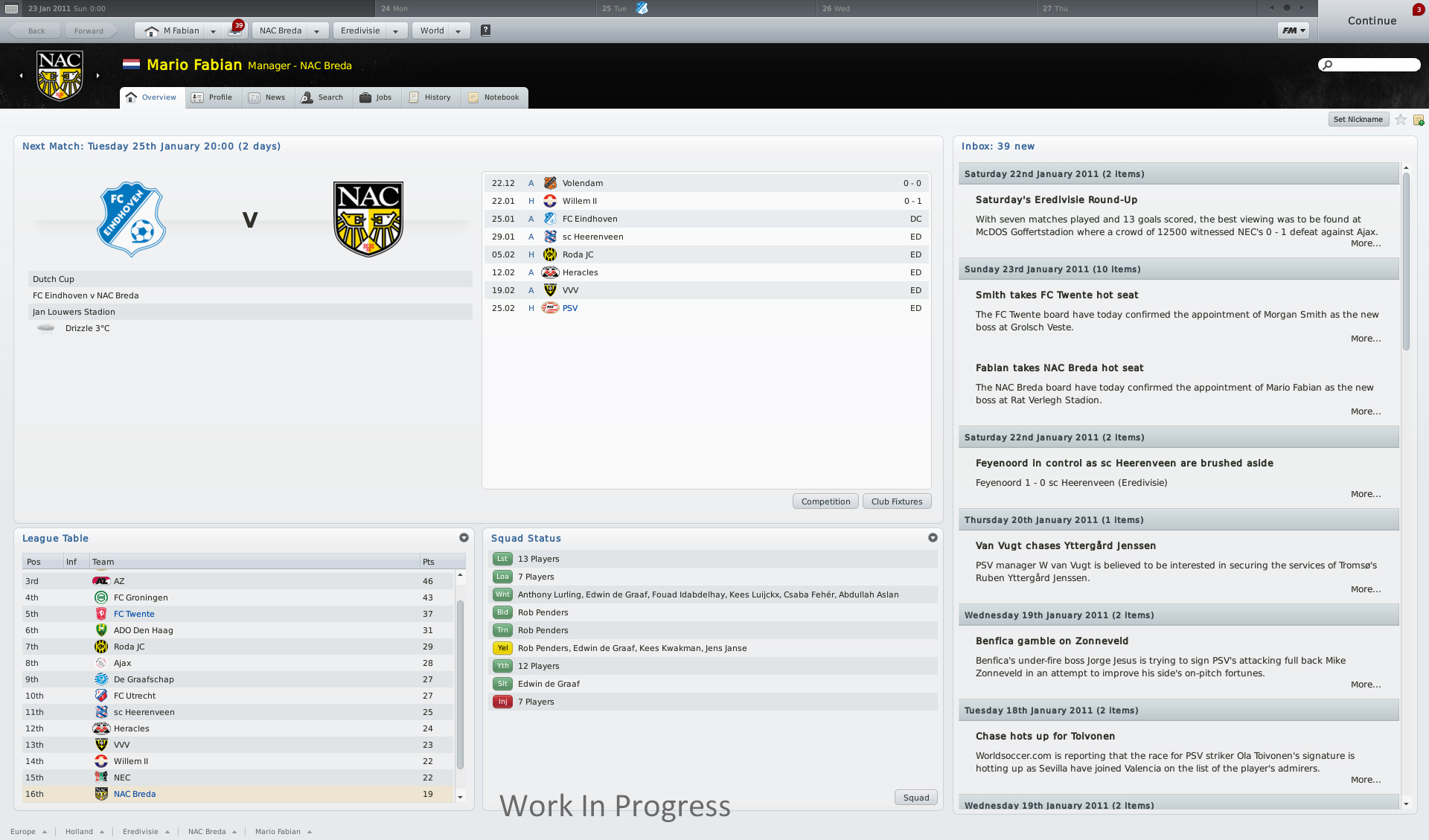 Видеоанонс и первые скриншоты Football Manager 2011.